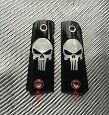 1911 COLT GRIPS Custom For Full Size Clones Punisher Skull Black Government