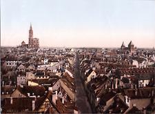 France, Strasburg. Generalansicht. (FRANCE) vintage print photochromie, vintag