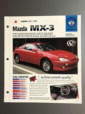 "1991 - 1998 Mazda MX-3 Sedan IMP ""Hot Cars"" Spec Sheet Folder Brochure Awesome"