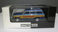 WhiteBox 1/43 1989 Jeep Wagoneer blue diecast 1 of 1,000
