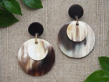 Buffalo Horn Material Jewelry Earrings Bijoux en Corne