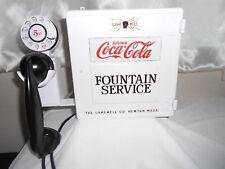 COCA COLA Call Box Telephone Fountain Service Phone Coke Soda Bottle Old Antique