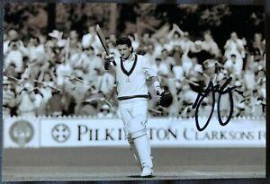 Australia Cricket Legend Mark Waugh Ashes Test debut century 1991 Signed Photo
