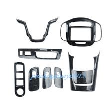 9PCS Black Wood Grain Car Interior Kit Cover Trim For Buick Lacrosse 2013-2015
