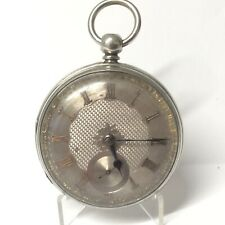 1863 Silver Fusee Pocket Watch, Silver Dial, Russell of Huddersfield, Runs Well