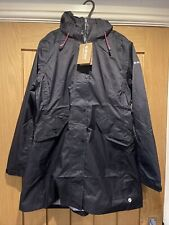 Long Ladies Waterproof Coat Hi-tec Medium Black