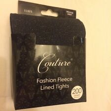 Sparkly Lurex Tights with Fleece Lining Brand New Size Medium