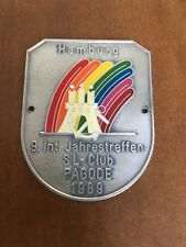 Vintage Mercedes Pagoda Enamel Radiator Badge 280sl 250sl 230sl