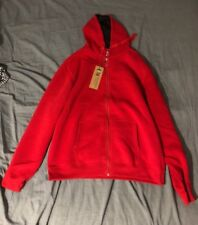 Designer Red Hood Sweater Men XL