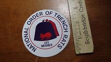 NATIONAL ORDER OF TRENCH RATS   VFW AMERICAN LEGION VETS DECAL BX L 102