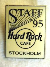 Hard Rock Cafe Stockholm STAFF White Rectangle '95 Pin -  LE 110 Pins