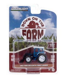 1:64 Scale Greenlight Collectibles 48040C 1982 Ford 5610 Tractor & Loader - BNIB