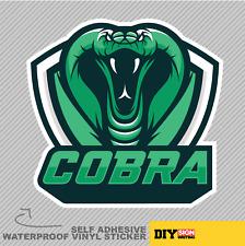 Cobra Tête Serpent mascotte Vinyle Sticker Autocollant Fenêtre Voiture Van Vélo 1976