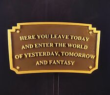 "9"" Magic Kingdom DL Entranceway Plaque Inspired Sign - Dual Color"