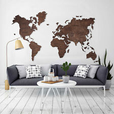 Wood Map Wood Wall Decor Home Decor Push Pins Wooden Map L Size