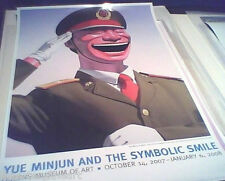 """YUE MINJUN 'Salute', 2005 Symbolic Smile 2007 NYC Exhibition Poster 36""""x24"""" NEW!"""