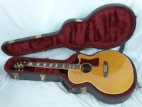 Guild Guitar F47 Acoustic Guitar F47RCE & Black Guild Guitar Case