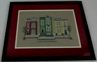 Completed Cross Stitch San Francisco Painted Ladies Victorian Houses Framed EUC