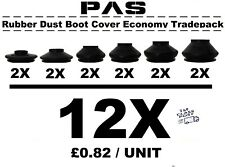 UNIVERSAL TRACK ROD END BALL JOINT RUBBER DUST BOOT COVERS GAITERS TRADEPACK 12X