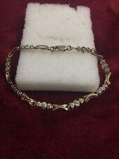 10kt Ladies Yellow Gold Diamond Bracelet Lobster Lock