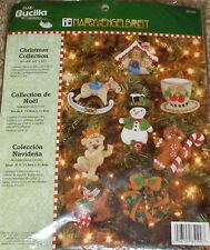 """Bucilla / Mary Engelbreit """"Christmas Collection"""" Felt Ornaments (8) Kit Nip"""