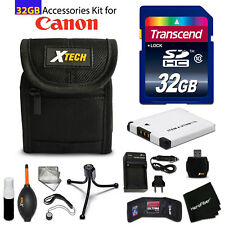 32GB ACCESSORIES Kit for Canon PowerShot ELPH 360 HS, ELPH 350 HS, ELPH 340