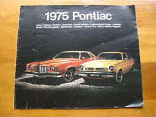 1975 Pontiac Full Line Sales Brochure