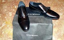 Scarpe classiche eleganti Oxford ARMANI n. 41,5 (7,5) uomo nuove in pelle nera.
