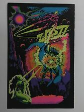 Blacklight Poster Pin-up Print Space Demon & Power Plant Double Sided