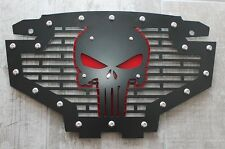 Custom Part Steel PUNISHER Grille Emblem Grill w/ Red Accent Polaris RZR 800/900
