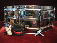 VTG BEAUTY 1970 Ludwig Supraphonic Snare Drum B/O Badge Most Recorded Drum Ever!