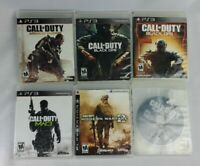 CALL OF DUTY PS3 LOT of 6 Games BLACK OPS MODERN ADVANCED WARFARE