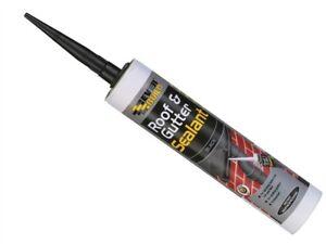 Everbuild ROOF and GUTTER Sealant   Black   Waterproof   Bitumen Felt Adhesive