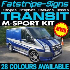 FORD TRANSIT SPORT MWB GRAPHICS STICKERS DECALS STRIPES M SPORT MK6 MK7 D ST 2.0