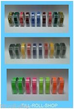 More details for dymo compatible 9mm embossing tape - various colours, designs and quantities