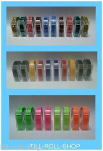 Dymo Compatible 9mm Embossing Tape - Various Colours, Designs and Quantities