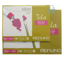 """Fabriano Tela Oil Painting Paper Block 12""""x9"""" (24x32cm)10 Sheets Canvas Texture"""