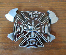 Fire Department Fire & Rescue Belt Buckle Fireman Fire Fighter #1754