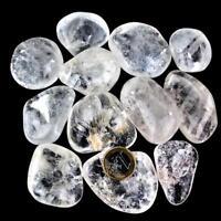 500 g XXL Bergkristall klar Trommelsteine A - Qualität Brasilien Ø 40 - 70 mm