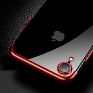 Für iPhone Xr Tasche Case Handyhülle Schutz Hülle Mit farbigen Kanten Ultra Klar