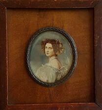 Miniatur mit dem Portrait einer jungen Frau, um 1920, Gouache