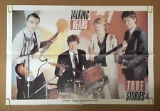 Talking Heads Vintage Poster True Stories Pin-up Rock Music Album Promo 1980's