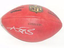 ANTONIO BROWN SIGNED STEELERS DUKE OFFICIAL GAME FOOTBALL BALL PROOF JSA COA