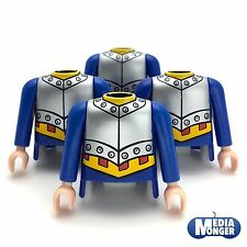 Playmobil ® 4 x torso con brazos   azul   plata   amarillo   españoles   Ritter