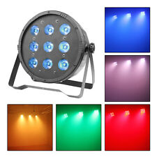 LED DJ Par Can Light RGBW 4-In-1 DMX Color Mixing Stage Up Lighting Wash Effect