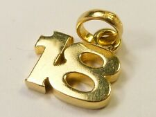 RARE TOP QUALITY SOLID 750 18ct GOLD LINKS OF LONDON NUMBER 18 CHARM PENDNANT