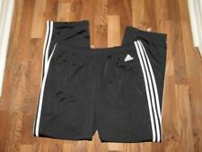 Adidas Womens Black White Track Athletic Pants w/ Triple White Stripe sz XL NEW!