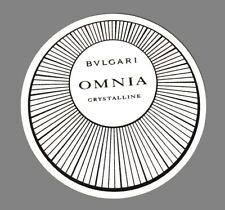 Carte publicitaire   - adverting card  - Omnia  Cristalline de Bvlgari