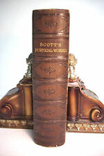 1850 THE POETICAL WORKS OF SIR WALTER SCOTT BART *Illustrated*Nice Leather!