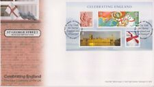 UNADDRESSED ST GEORGES GB ROYAL MAIL FDC 2007 CELEBRATING ENGLAND STAMP SET